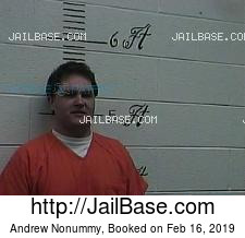 Andrew Nonummy mugshot picture