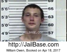 William Owen mugshot picture