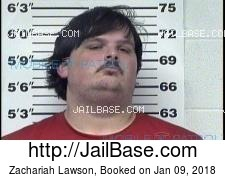 Zachariah Lawson mugshot picture