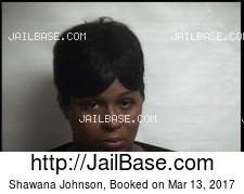 Shawana Johnson mugshot picture