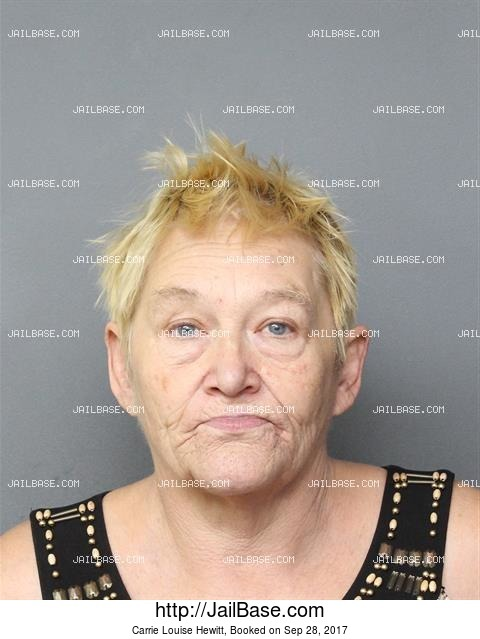 CARRIE LOUISE HEWITT mugshot picture