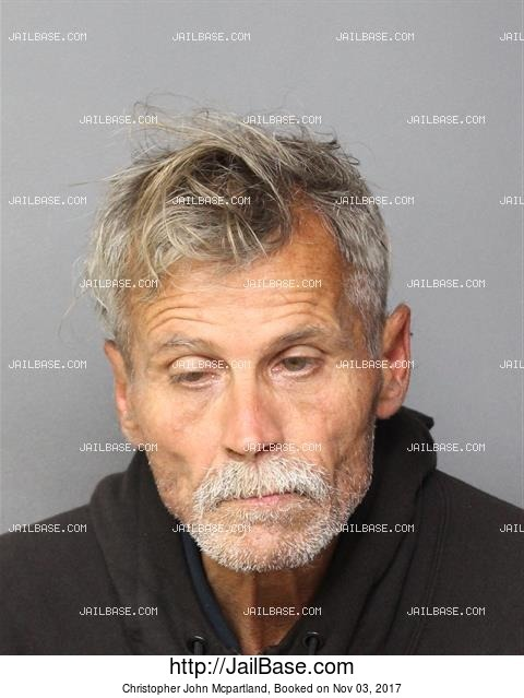 CHRISTOPHER JOHN MCPARTLAND mugshot picture