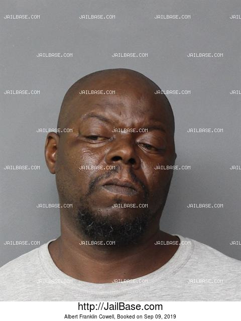 ALBERT FRANKLIN COWELL mugshot picture