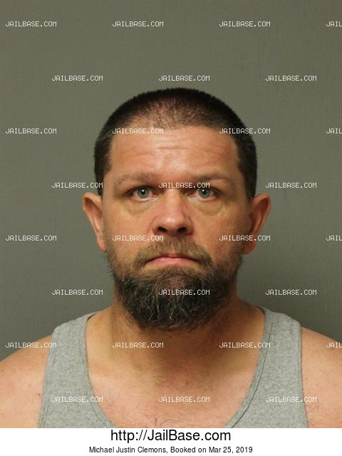 MICHAEL JUSTIN CLEMONS mugshot picture