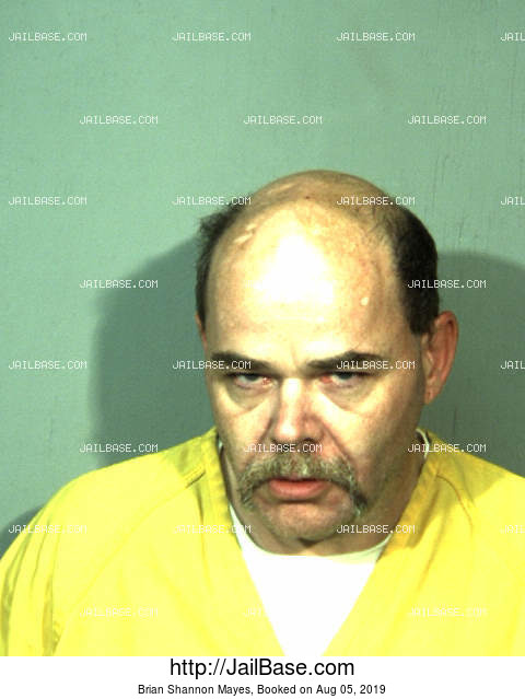 BRIAN SHANNON MAYES mugshot picture