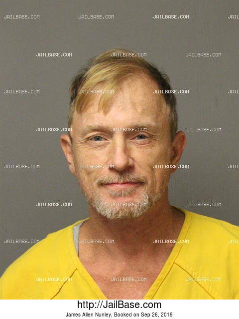 JAMES ALLEN NUNLEY mugshot picture