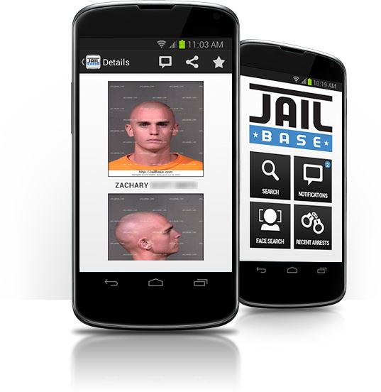 mobile app mugshot screen