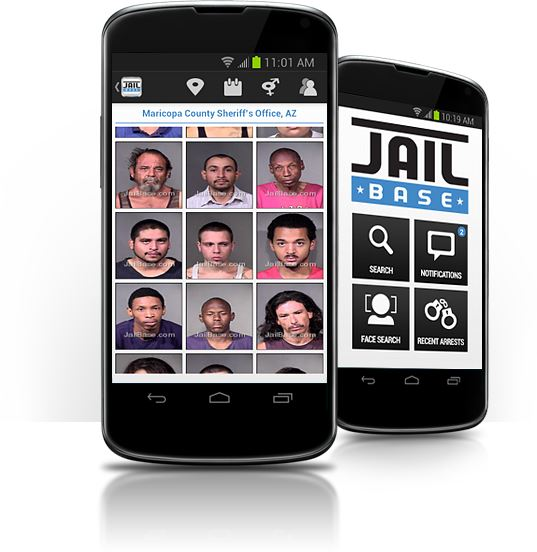 mobile app recent arrests screen